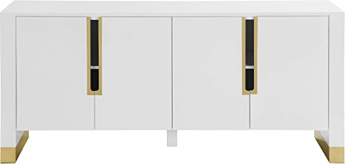 Meridian Furniture Florence Collection Modern   Contemporary Sideboard/Buffet