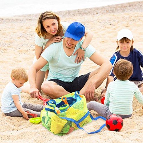 SySrion®, borsa a rete da spiaggia (nuoto, giochi, barca, ecc.). Stai lontano dalla sabbia -- Taglia XL (verde).