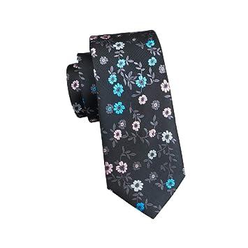 KYDCB Hi-Tie Fashion Floral Tie Seda Corbata Diseño clásico Camisa ...