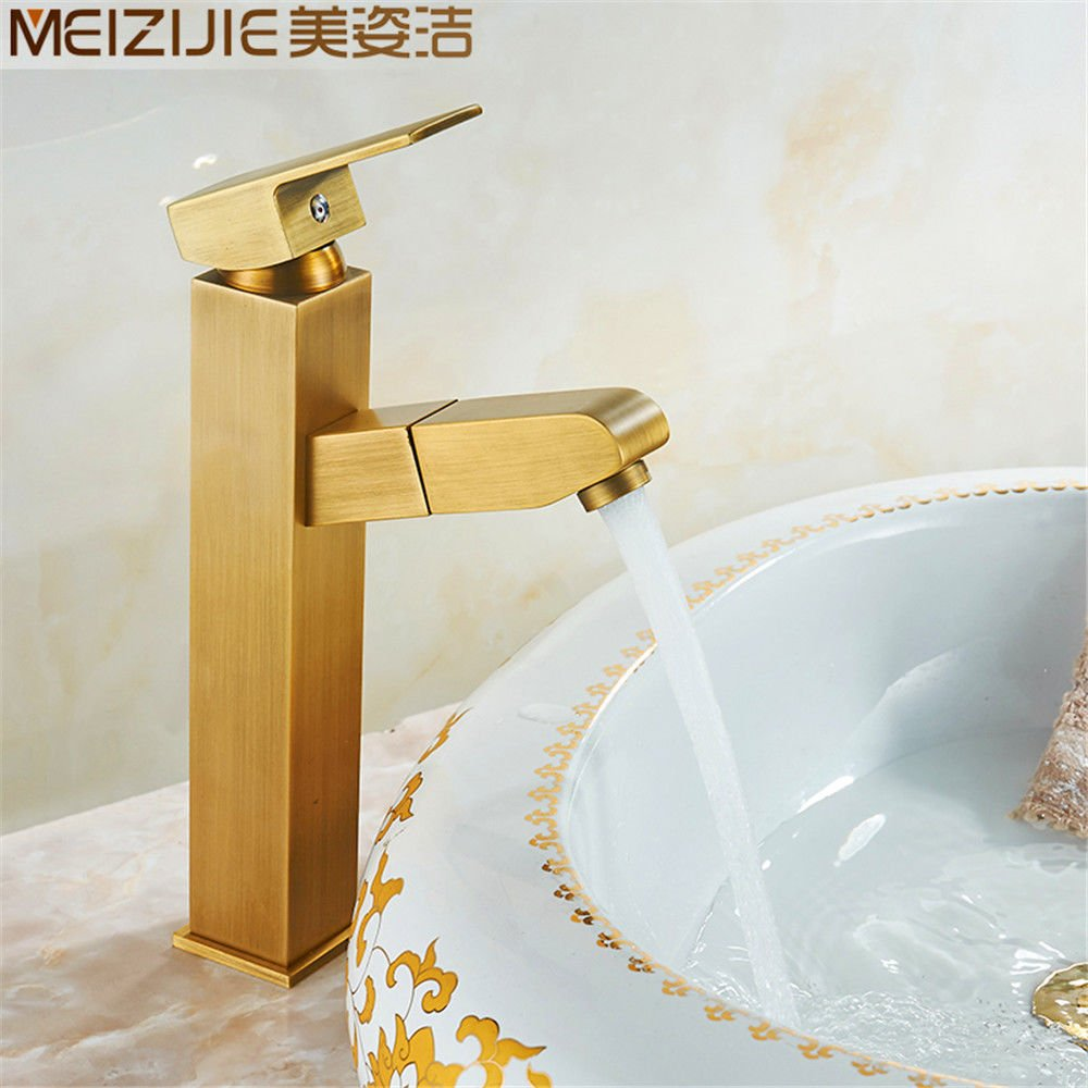 B NewBorn Faucet Kitchen Or Bathroom Sink Mixer Tap The Copper gold Bath Taps Into The Wall Full-Copper Easy Shower Cold Water Phone Plug-Water Valve B