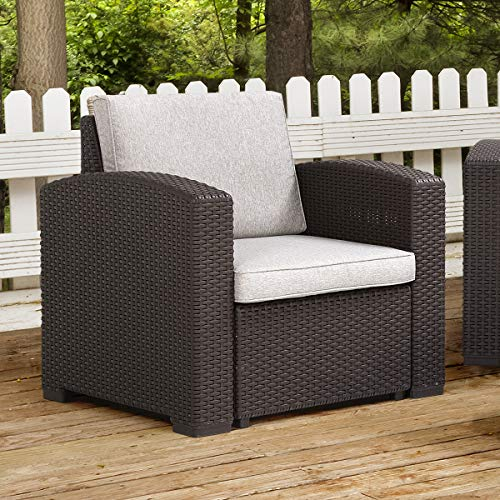 Pamapic Outdoor Armchair, Wicker Patio Furniture Sets with Seat Cushions for Patio, Backyard, Porch, Garden (Patio Resin Clearance Furniture)