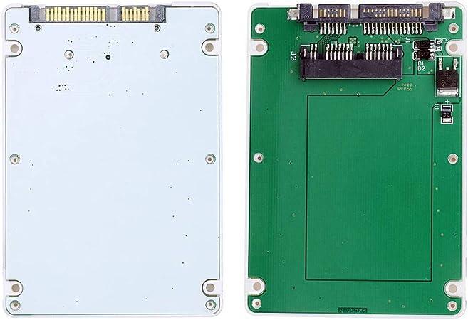 Cy 1 8 Zoll Micro Sata 16pin Ssd Auf 7mm 2 5 Sata 22pin Festplattengehäuse Weiß Computer Zubehör