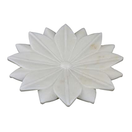 Buy marble stoneware home decor lotus flower shape white 9 inch marble stoneware home decor lotus flower shape white 9 inch mightylinksfo