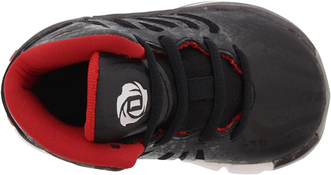 adidas D. Rose 4.5 Chaussures de bébé de Taille, Noir (Noir