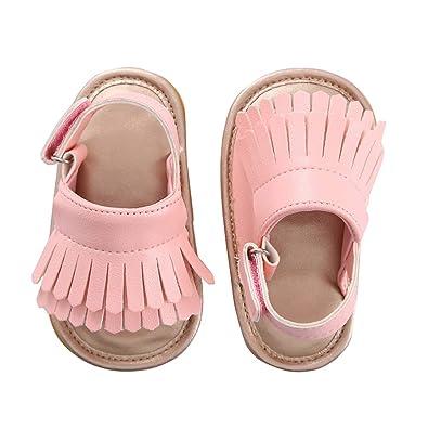 Amazon.com: Sandalias para bebé con borlas para verano, para ...