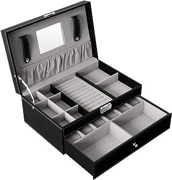 DoubleBlack Caja Joyero Organizador Bandeja para Joyas Bisuteria ...