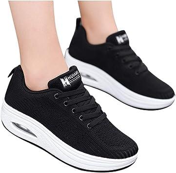 Mujer Zapatillas de Deporte Malla Air Cuña Cómodos Sneakers Mujer Casual Running Senderismo Ligero Mesh Zapatillas: Amazon.es: Oficina y papelería