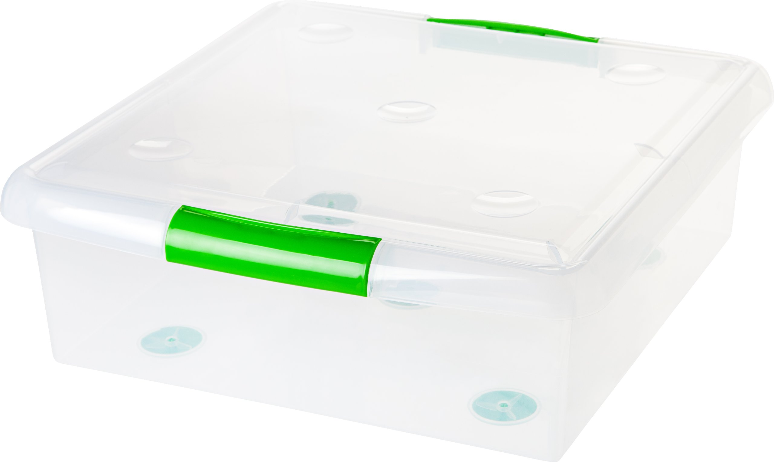 IRIS USA, Inc. SS-SQ CLR/Pebble Beach 6PC Set 1PK [ECOM] IRIS 25 Quart Store & Slide Storage Box, Green by IRIS USA, Inc.