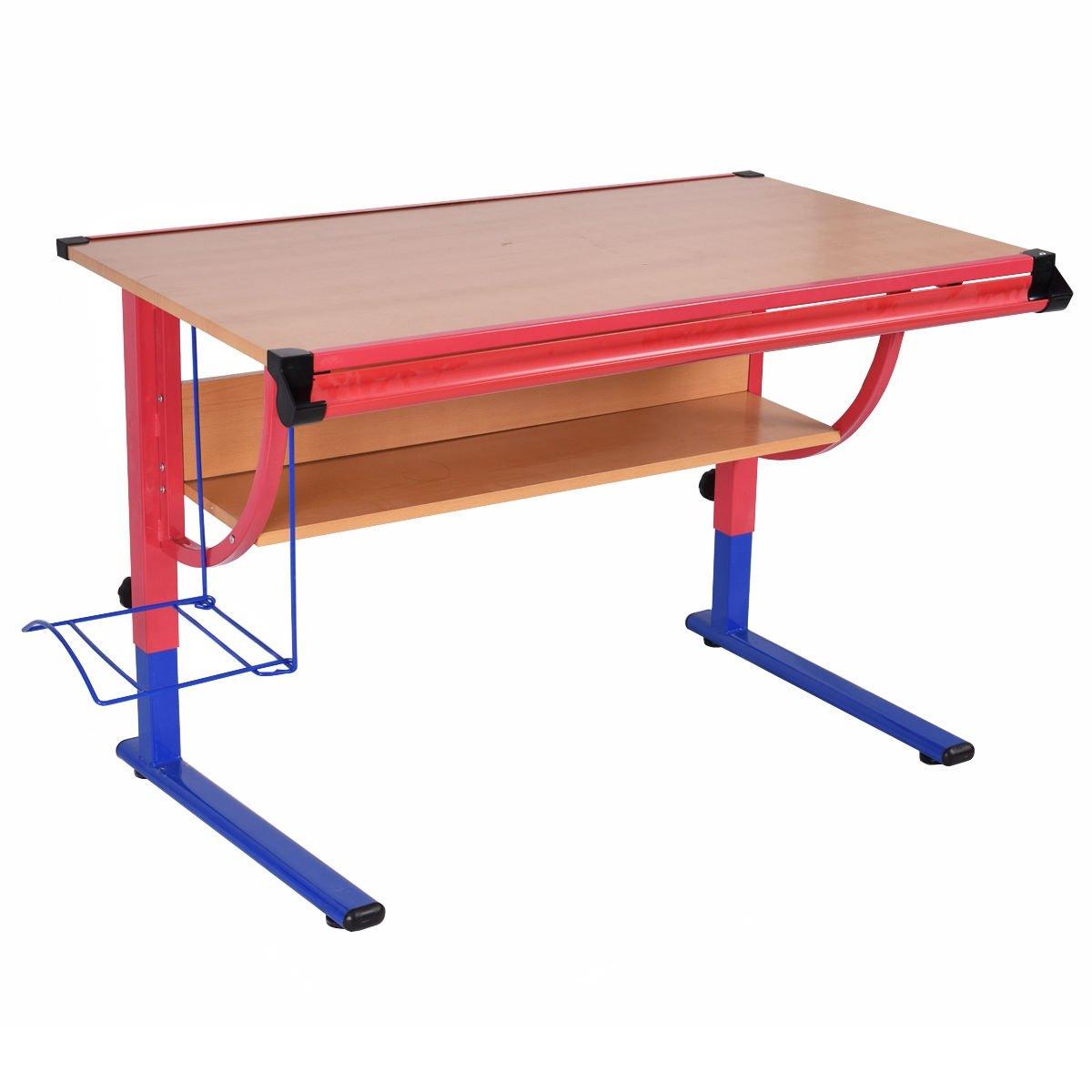 NEW Adjustable Drafting Table Workstation Drawing Desk Art & Craft Hobby Studio Wood Iron