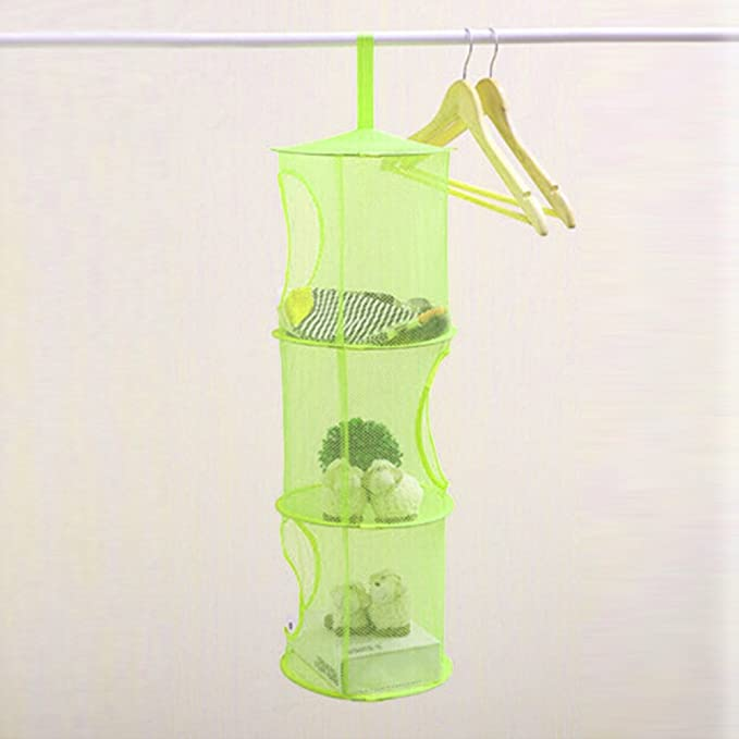 Amazon.com: OUNONA Hanging Mesh Storage Basket Net Bra Underwear Socks Organizer Kids Toys Organizer Bag (Green): Home & Kitchen