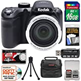 Kodak PIXPRO AZ401 Astro Zoom Digital Camera (Black) 16GB Card + Case + Tripod + Kit
