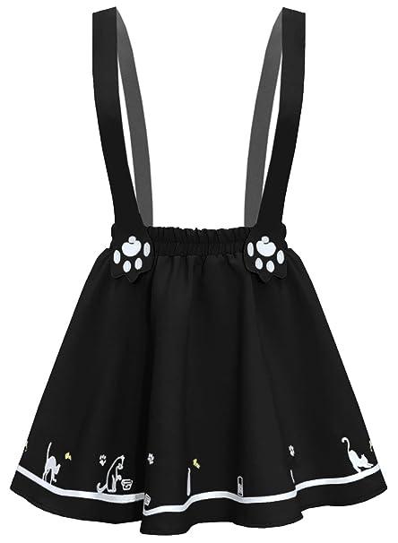 Amazon.com: futurino - falda plisada para mujer con 2 ...