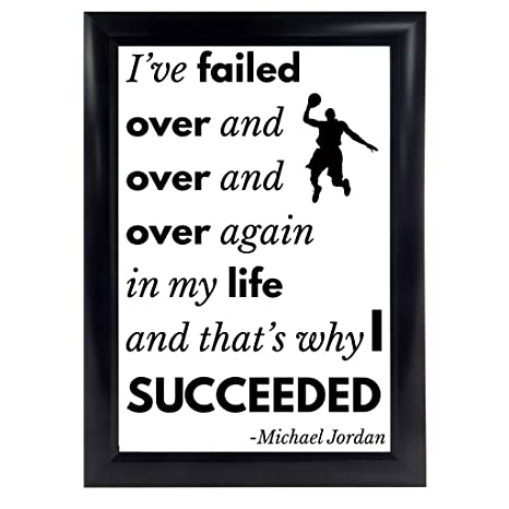 Amazoncom Michael Jordan Quote Poster From Ive Missed More Than