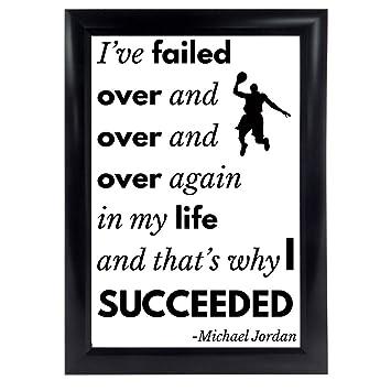 Bon Michael Jordan Quote Poster From U201cIu0027ve Missed More Than 9000 Shotsu201d MJ