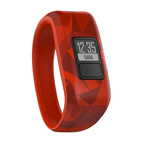 Garmin Vivofit Jr. Motivator and Activity Tracker, Red (Broken Lava)