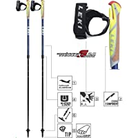 Leki Unisex Adult Supreme Shark Trekking Sticks-Black, 100-130 cm