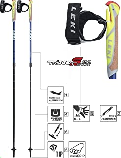 9772004441c Leki Instructor Lite Nordic Walking Stick Black Light Anthracite ...