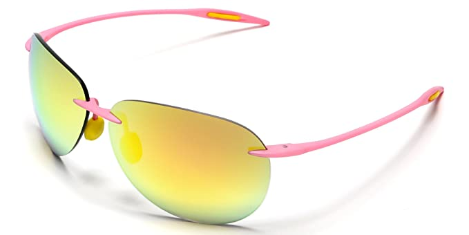 33ce92e0f94a Samba Shades Light-Weigh Unbreakable TR90 Frame Military Pilot Sunglasses  with Pink Frame