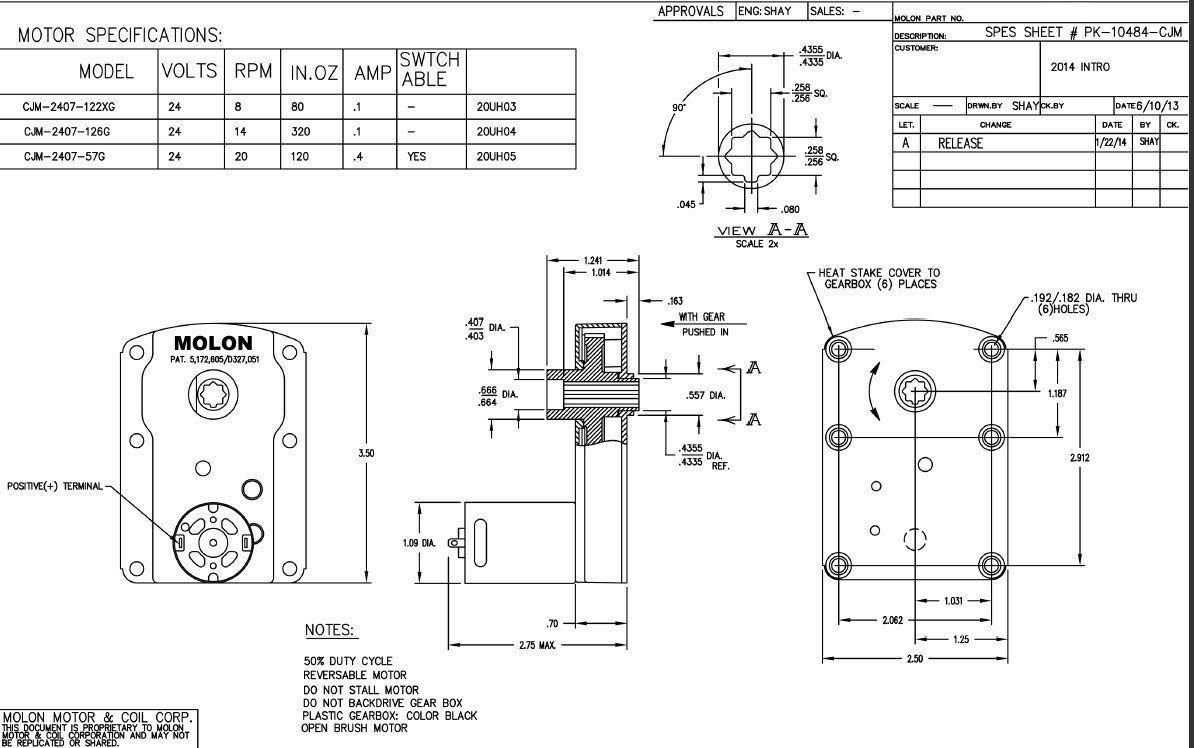 tarp gear motor 12 volt wiring diagram wiring library Switch Wiring Diagram molon cjm 2407 57 gear motor 1 64 hp 20 rpm 24 volt dc amazon com