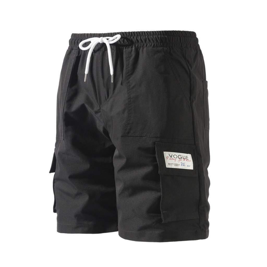 Drau/ßen Tasche Hose Cargo Shorts Arbeit Hose Strand Ausgebeult Kurze Hose Pants 2019 Herren Beil/äufig Hose Kurze Kurze Jogging Hosen Herren