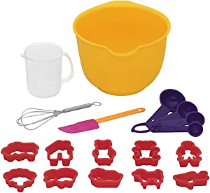 Baker's Secret 18 Piece Kids Baking Set, Multicolor