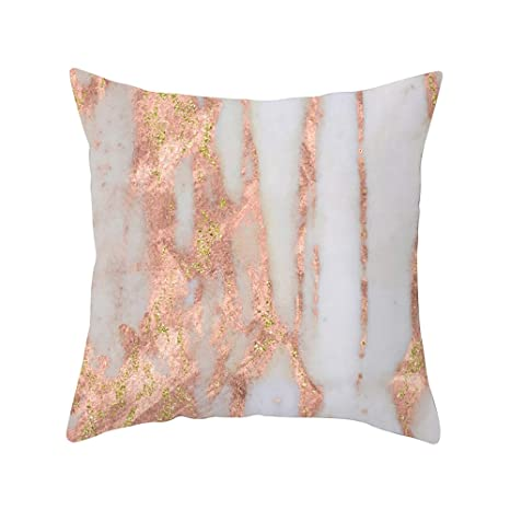 Amazon.com: SportHome Geometric Marble Texture Throw Pillow ...