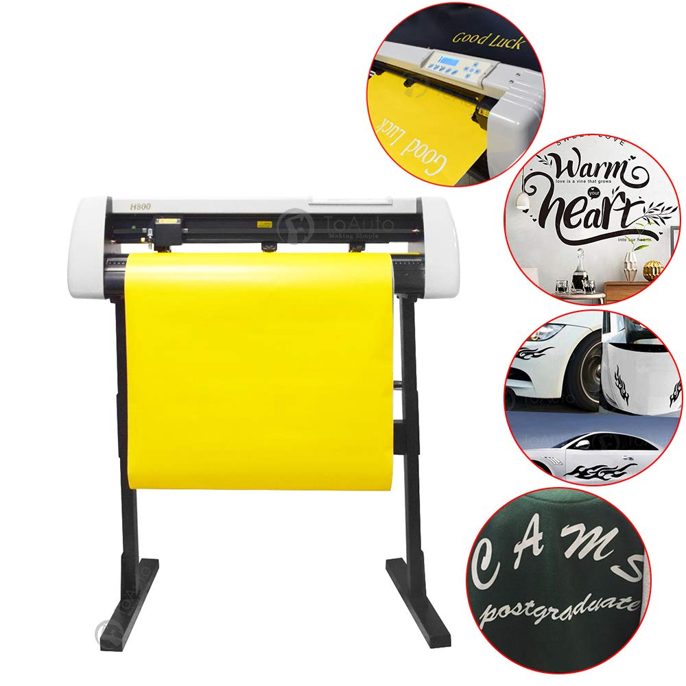 Vinyl Cutter Plotter, Sign Cutting Machine for Vinyl Sticky Self-Adhesive Car Stickers Cutting and Drawing Tools (28inch) by FASTTOBUY (Image #2)