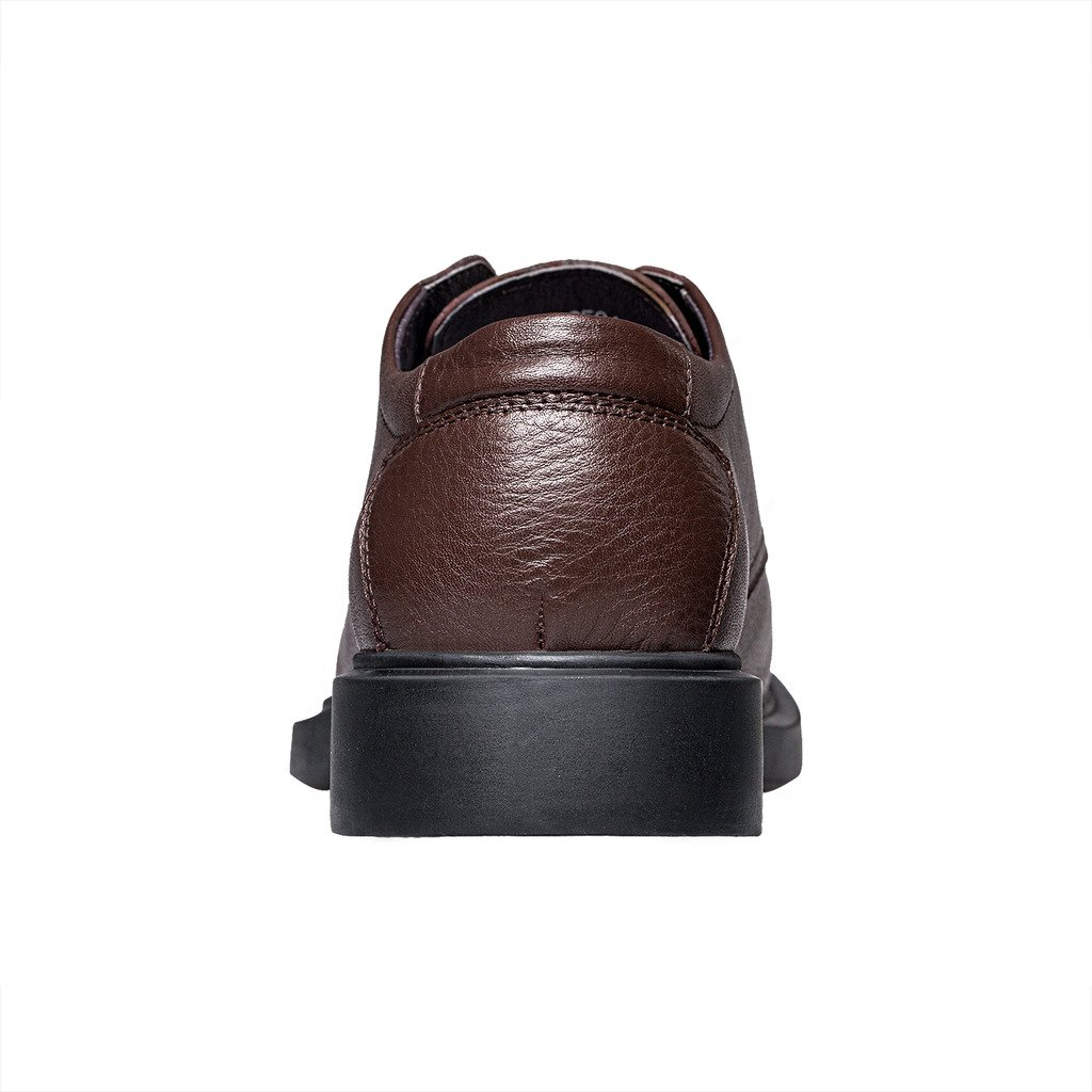 ZRO Men's Round Toe Oxford Shoes Lace Up Casual business Brown US 6 by ZRO (Image #4)