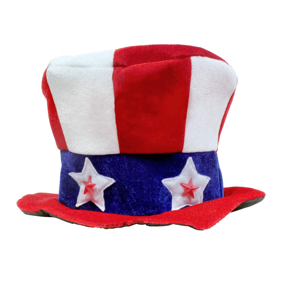 LED Uncle Sam Patriotic Hat with Stars