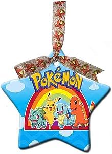 Astilnet Pokemon XV Anniversary Pikachu Charzard Custom Gift Star Christmas Ornaments Ceramic Crafts Home Decoration