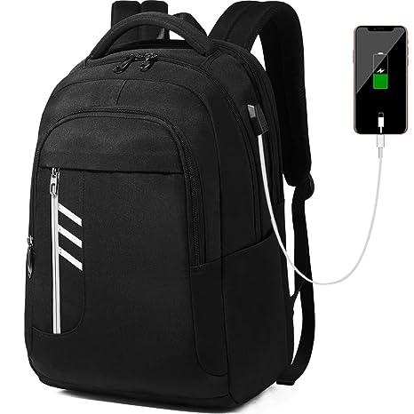 dbabdd2f01 REETEE Zaino per Laptop 15,6 Pollici Riflessivo Zainetto per Computer  Portatile con Porta USB