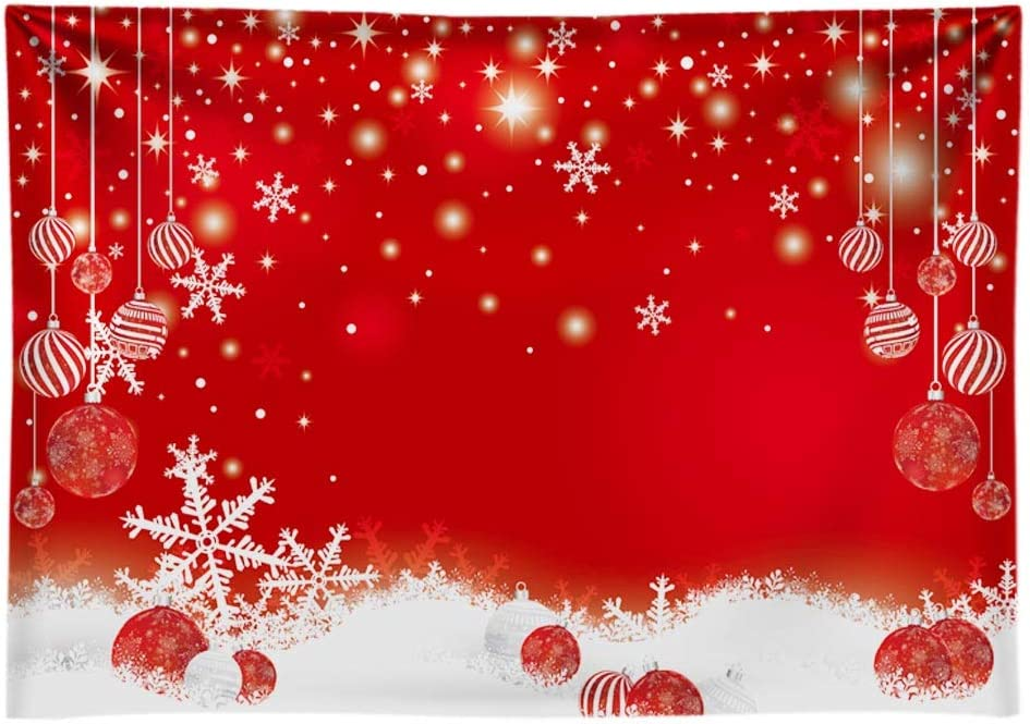 Christmas 8x10 FT Backdrop Photographers,Red Retro Style Car Xmas Tree Vintage Family Style Illustration Snowy Winter Art Background for Baby Shower Bridal Wedding Studio Photography Pictures Red Gre