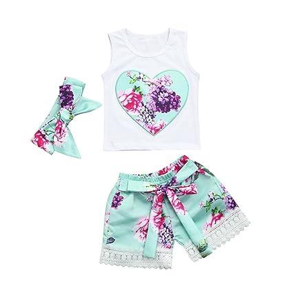 79e99403c Baby Girls Summer Sets,Jchen(TM) Clearance Hot Sales 3 PCS Toddler Infant