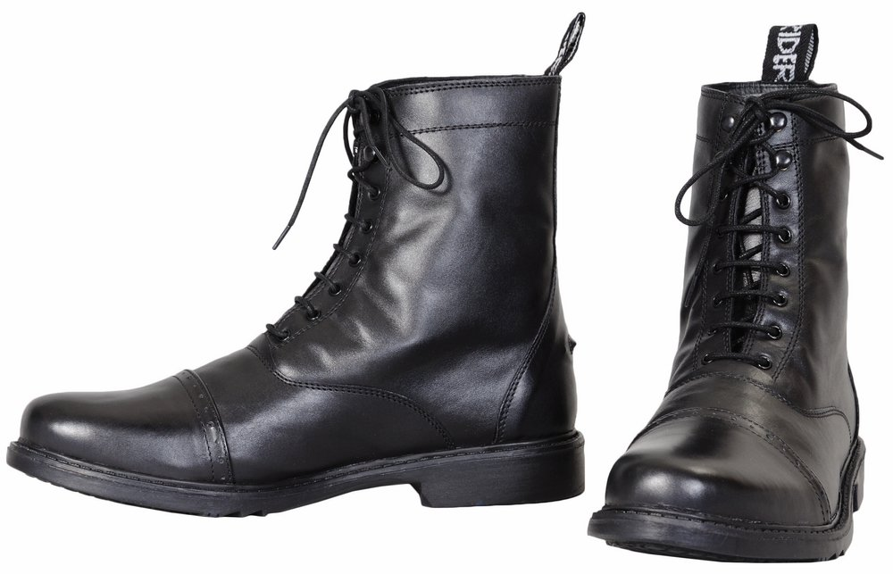 TuffRider Men's Barouque Lace Up Laced Paddock Boots, Black, 8 by TuffRider