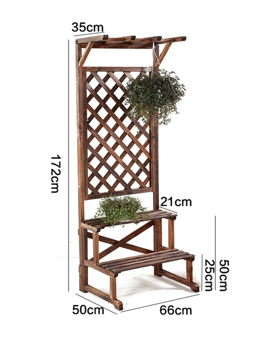 Holz Blumenregal ---- Massivholz-Blumen-Racks Balkon Mehrere ...