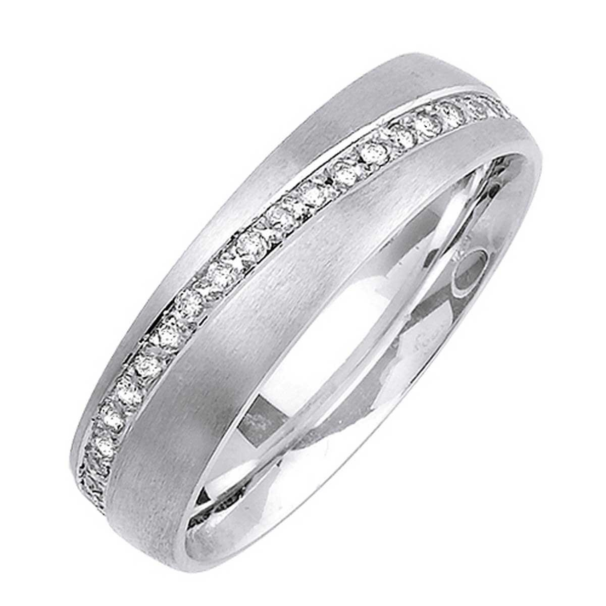 0.48ct TDW White Diamonds 18K White Gold Love Knot Men's Wedding Band (G-H, SI1-SI2) (6mm) Size-9.5c2