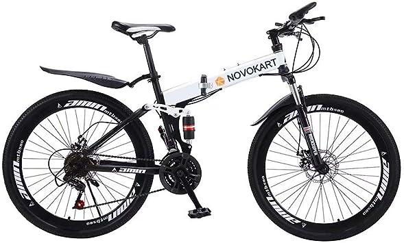 NOVOKART Bicicleta de Montaña Plegable Urbana de 24/26 Pulgadas ...