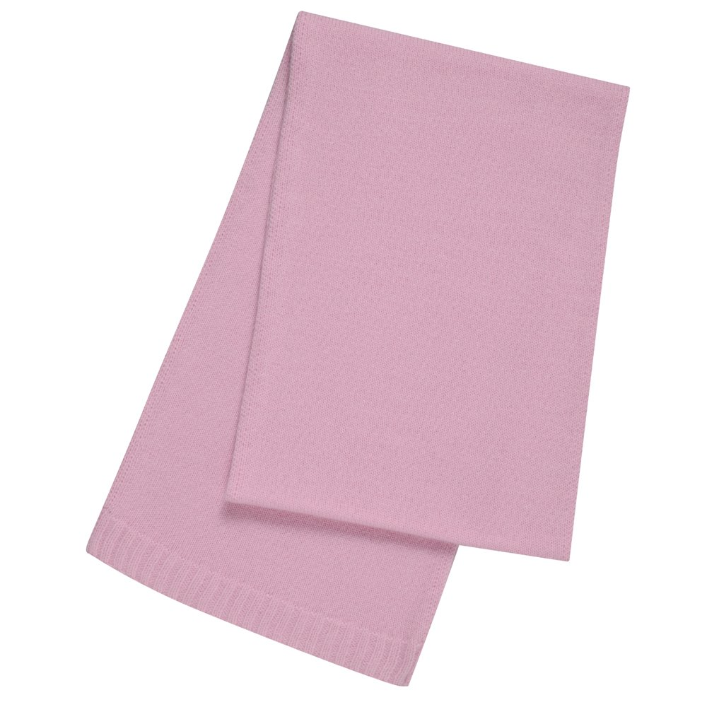 Pure Cashmere Plain Scarf Made in Scotland (Soft Pink (22))