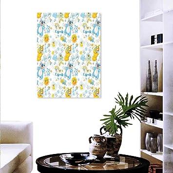 Amazon.com: Anyangeight Moderno lienzo para guardería, arte ...