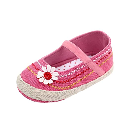 Miyanuby Zapatos Bebe Niña Primeros Pasos Flor Zapatos de Vestir   Suela Blanda Antideslizante Mocasines Bebe 0-6 Meses, 6-9 Meses, 9-12 Meses: Amazon.es: ...