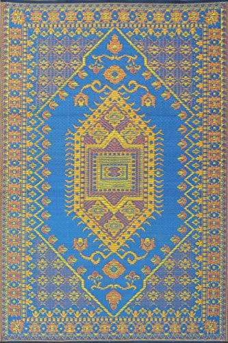 (Mad Mats® FM-OTU46-BLC Outdoor Rug, 4' X 6' Blue)