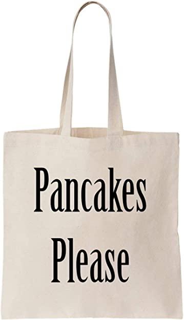 KRISSY Pancakes Please Food Good Tasty Sweet Cool Idea Algodón Bag ...