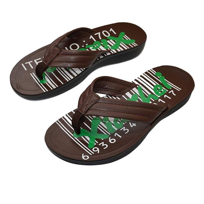 Zapatillas de Hombre,PANPANY Sandalias Hombre Verano 2019 de Nuevas Chancletas Antideslizantes Sandal de Transpirable Zapatos Planas Shoes Moda Chancletas: ...