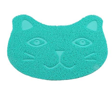 Flairstar Alfombrilla para Arenero Lavable y Antideslizante Cat Litter Mat Estera de Arena Gato Alfombra de