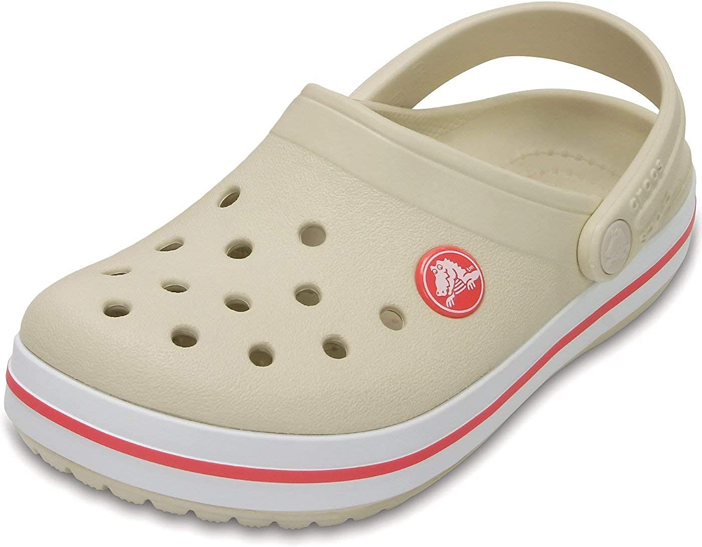 New Crocs Crocband Clogs Shoes Kids Boys Girls SZ 10//11 Smoke /& Navy
