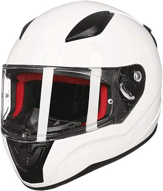 Hard hat Bluetooth Open Face Motorcycle Helmet,DOT Approved Anti-Fog Double Visor Motorbike Locomotive Helmets for Mofa Crash Moped Bobber Chopper Cruiser Racing Cap 59~60CM Color : A , Size : L=