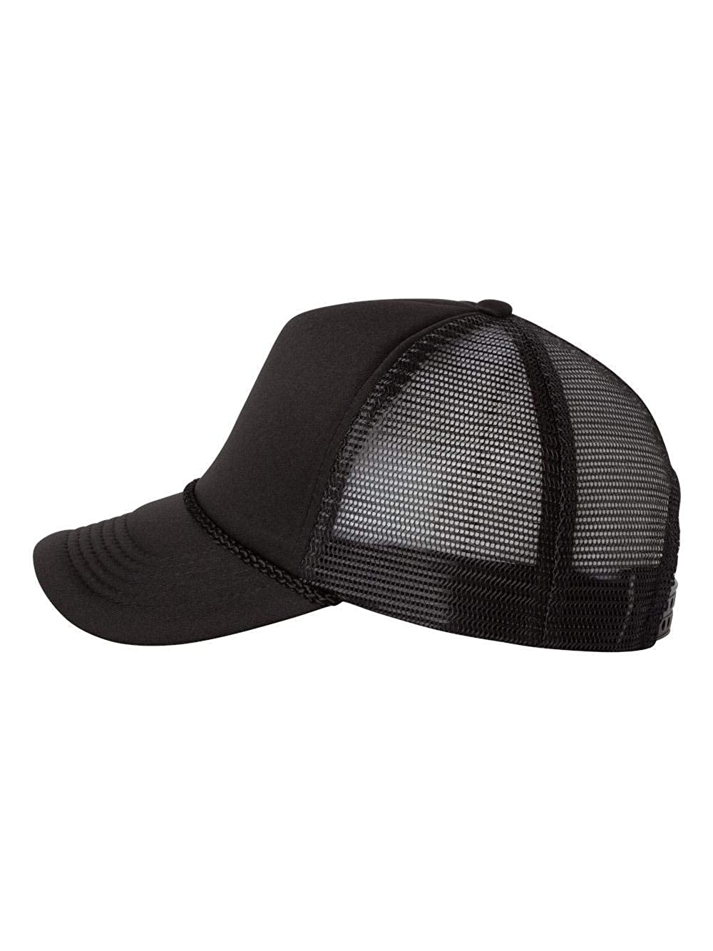 3c826a3d2616a4 Foam Trucker Cap, Color: Black/ Black, Size: One Size at Amazon Men's  Clothing store: Baseball Caps