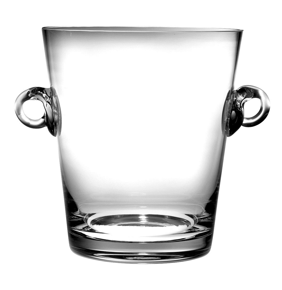 Barski -Glass- Ice Bucket- Wine Cooler - 7.25''H Glass - with 2 handles - Clear - Made in Europe