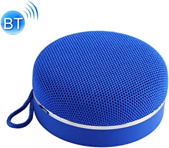 Portable Bluetooth Speaker with Hand Rope Built-in Microphone Support TF Card, USB Output, FM, Speakerphone,Blue