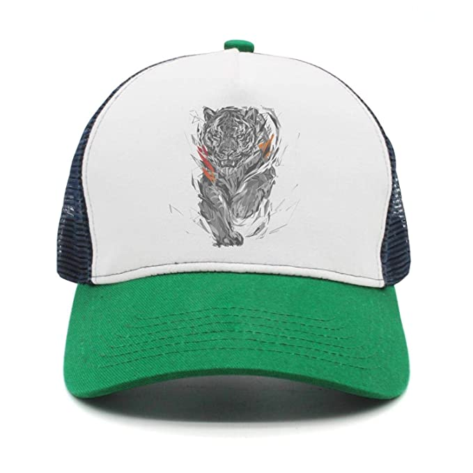 online retailer 29c77 cb72a Black Tiger Claw paw Women Men Snapback Hat Mesh Adjustable Sunscreen Cap  Rock Punk caps